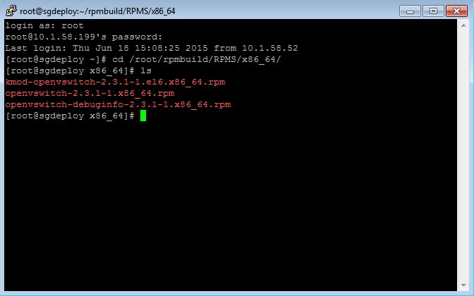 openvswitch files on sgdeploy